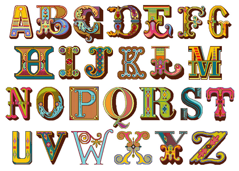 PDF alphabet charts for needlepoint by felicity hall
